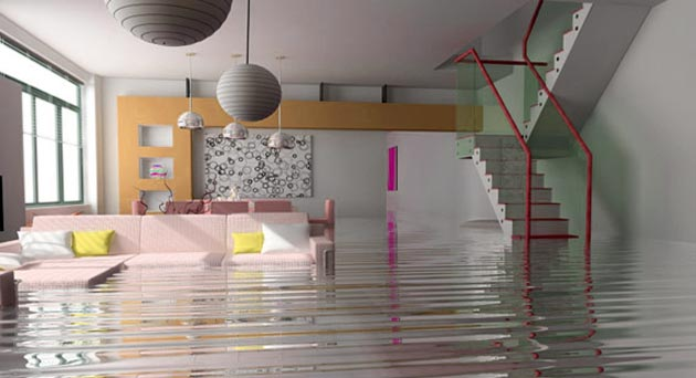 Flooding in Las Vegas home.